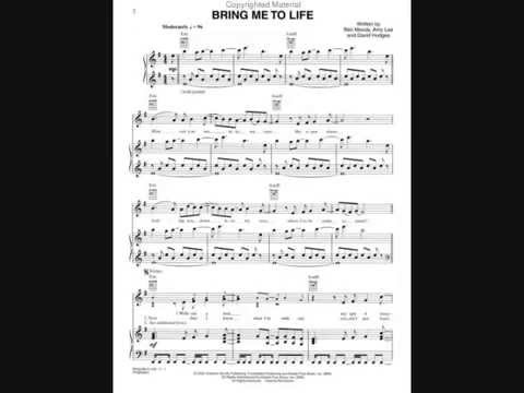 Bring Me To Life Flute Sheet Music Youtube