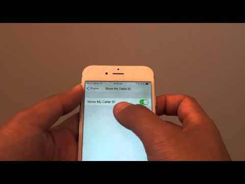iPhone 6: How to Show / Hide Caller ID Number