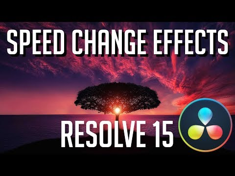 How to Speed Up, Slow Down, Freeze, and Reverse Video | DaVinci Resolve 15 Tutorial