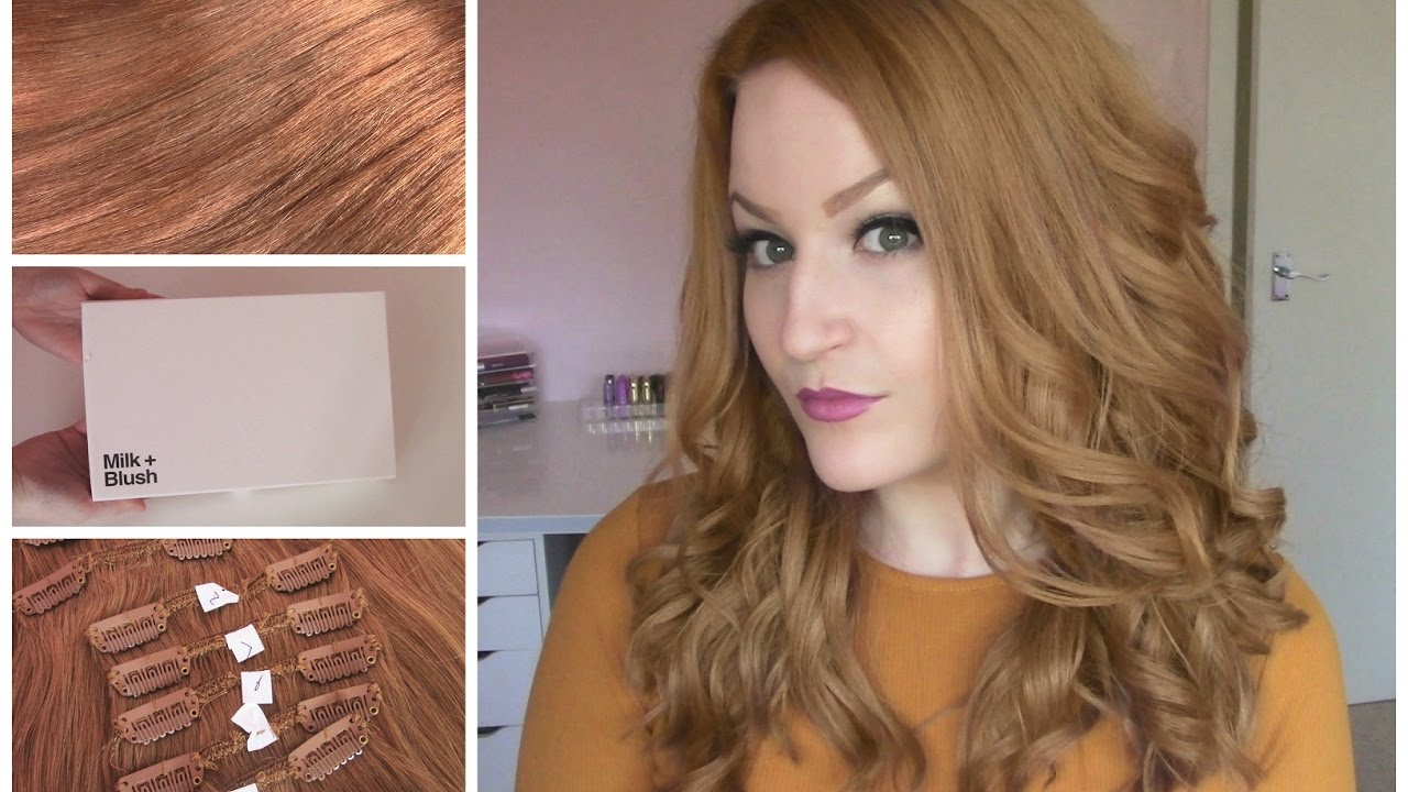 Copper Milk Blush Hair Extensions Dying Review Youtube