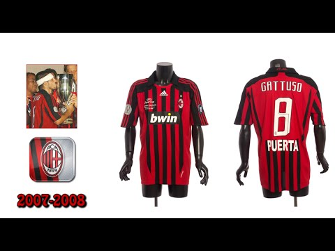 All A.C. Milan jerseys since 1963