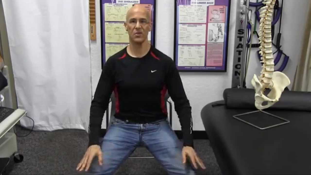 Seated Chair Stretch For Low Back Pain Muscle Spasm