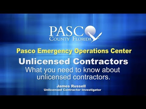 Contractor Licensing | Pasco County, FL - Official Website