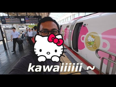 SHINKANSEN HELLO KITTY? (OKAYAMA PART #1) - TRAVEL VLOG