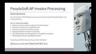 [RPA Demo] - die Automatisierung der Oracle-PeopleSoft AP-Verarbeitung mit UiPath