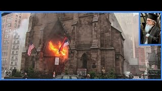 Filmed from the beginning: Serbian Cathedral St. Sava, NYC,  burns down.