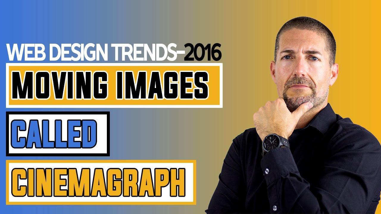 2016 Web Design Trend Moving Images Called Cinemagraph Youtube