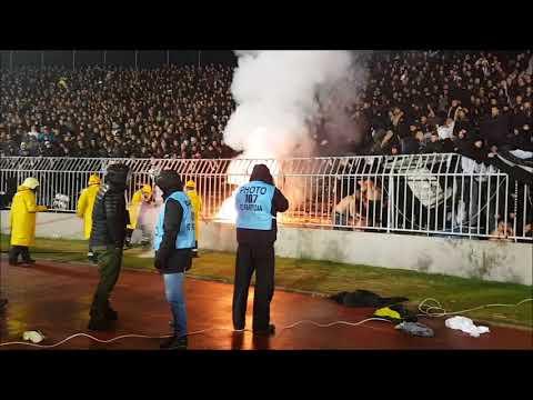 SRB: Partizan Belgrade - Crvena Zvezda Belgrade [Riots, pyro, derby]. 2017.12.13