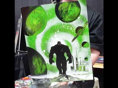 Planet Hulk Spray Paint Art at Niagara Falls Comic Con 2016 – Nathan Salmon