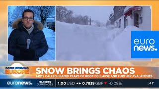 Snow brings chaos in central Europe   #GME