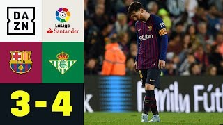 Rückkehr von Lionel Messi missglückt: FC Barcelona - Real Betis 3:4   Highlights   La Liga   DAZN