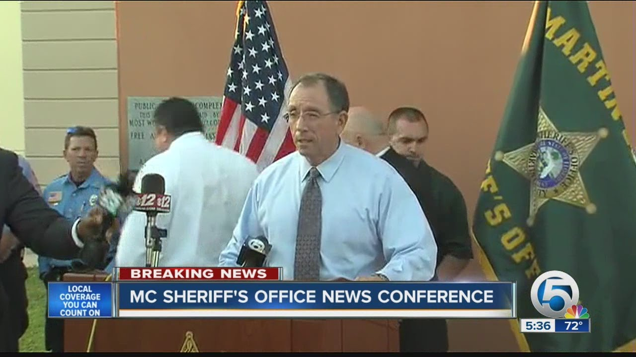 Martin County Sheriff's Office news conference - YouTube