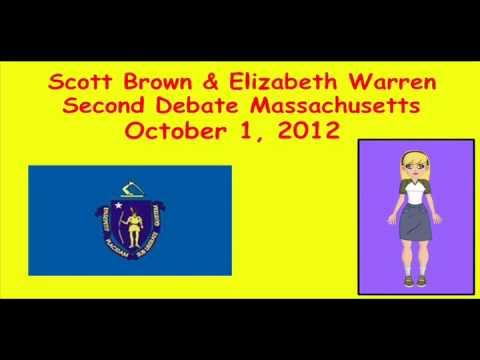 Scott Brown Elizabeth Warren Second Debate