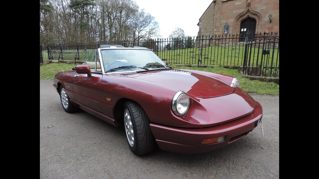 1990 Alfa Romeo Spider Review - YouTube