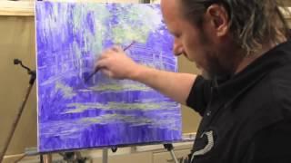 НОВЫЕ ВИДЕО ИГОРЯ САХАРОВА! ' ПРУД С КУВШИНКАМИ МОНЕ' Уроки живописи маслом