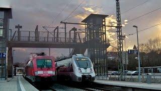 Connewitz mit der S-Bahn Mitteldeutschland (Taurus+DoSto, ET 1442), Straßenbahn +Tatra, Güterzüge