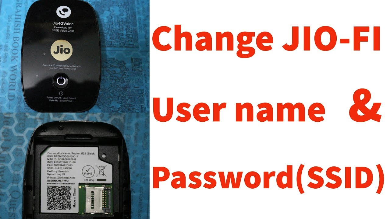 How To Change/Reset Jiofi Wifi Hotspot Username & Password(SSID) In Mobile  & Pc/Computer
