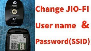 How To Change/Reset Jiofi Wifi Hotspot Username & Password(SSID) In Mobile & Pc/Computer