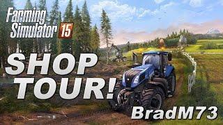 Farming Simulator 15 - Farm Shop Store Complete Tour!!!