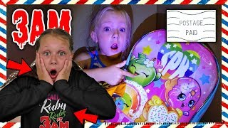 I Mailed Myself in a Box to Ruby Rube at 3AM! What's in My Backpack? *OMG* So Creepy!! (Skit)