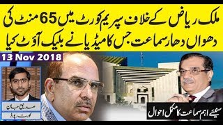 Complete Details of Bahria Town Rwpi encroachment case Hearing in SC by Siddique Jaan | 13 Nov 2018
