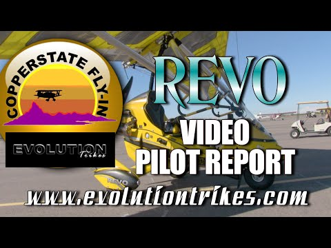 REVO Trike Video Pilot Report, Flying Evolution Trikes REVO at the Copperstate Fly In.