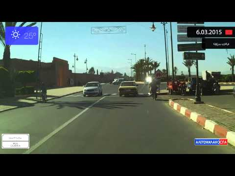 Driving through Marrakech (Morocco) from Koutoubia to Douar Lahna 6.03.2015 Timelapse x4