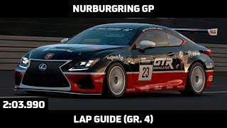Gran Turismo Sport - Daily Race Lap Guide - Nurburgring GP - Lexus RC F Gr. 4