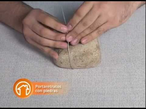 Manualidad portaretratos con piedras youtube for Como hacer color piedra