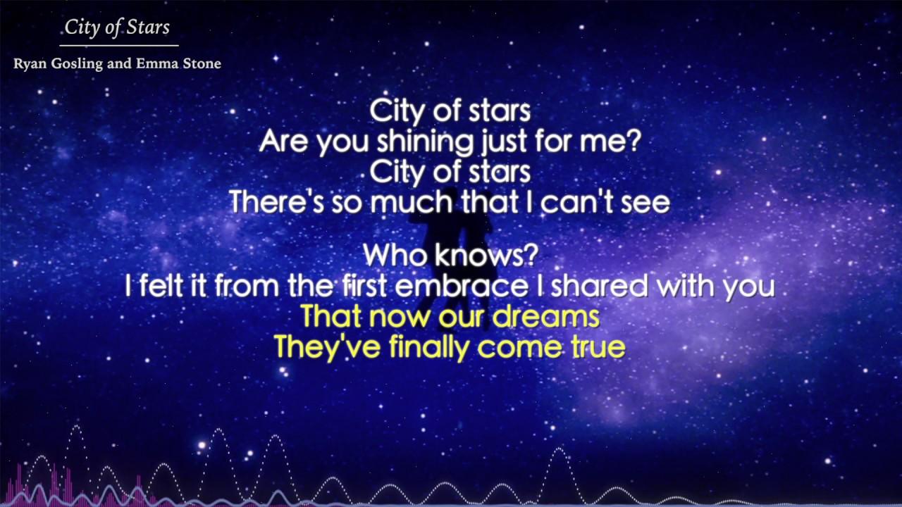 City Of Stars Ryan Gosling And Emma Stone Lyrics La La Land Ost Youtube City of stars are you shining just for me? city of stars ryan gosling and emma stone lyrics la la land ost