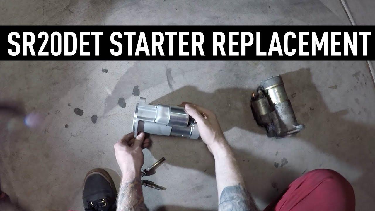hight resolution of sr20det starter replacement nissan 240sx tech tips
