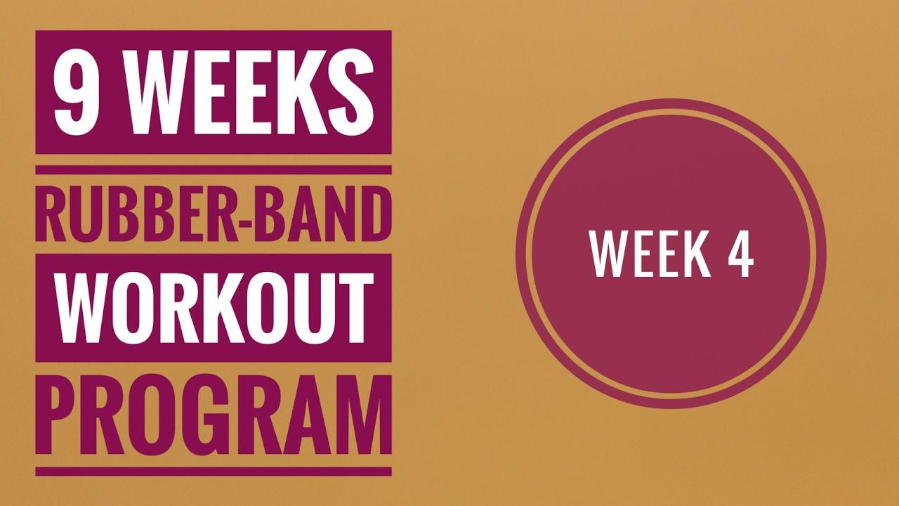 Rubber Band Week 4 Workout Program 20 Min Resistance Band