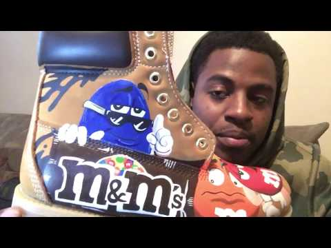 Custom M&M's Timberland Boots Part 3 How To Paint Time Lapse Video