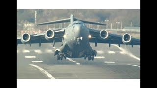 Unbelievably short takeoff by C-17 heavy