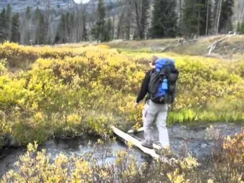 Backpacking along Pebble Creek, Yellowstone National Park