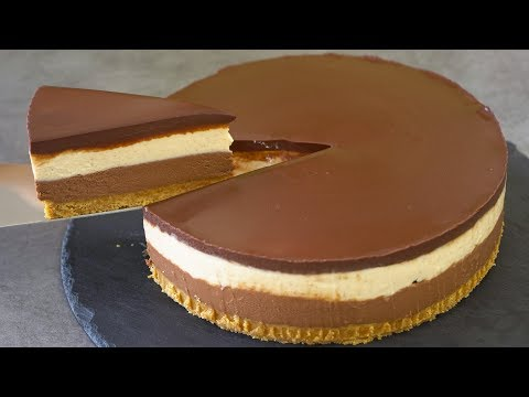 No Bake Peanut Butter Chocolate Cheesecake