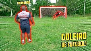 O TESTE DO GOLEIRO NO TIME DE FUTEBOL!! - (GOLEIRO DE FUTEBOL ) #10