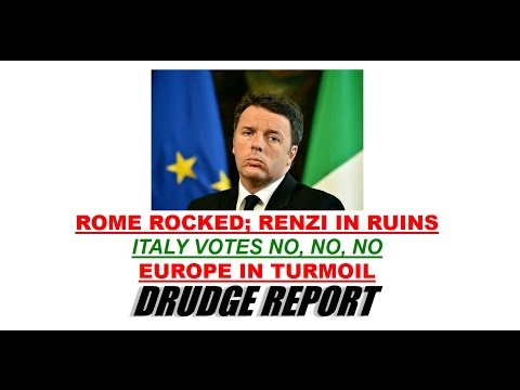 "HISTORIC: ITALY VOTES ""NO"" IN REFERENDUM. EUROPEAN UNION TO COLLAPSE. MATTEO RENZI TO RESIGN."
