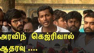 vishal vs cheran |  vishal files nomination at rk nagar chennai | latest tamil news today | redpix