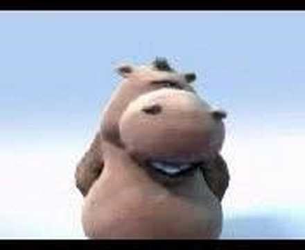 Happy hippo che canta