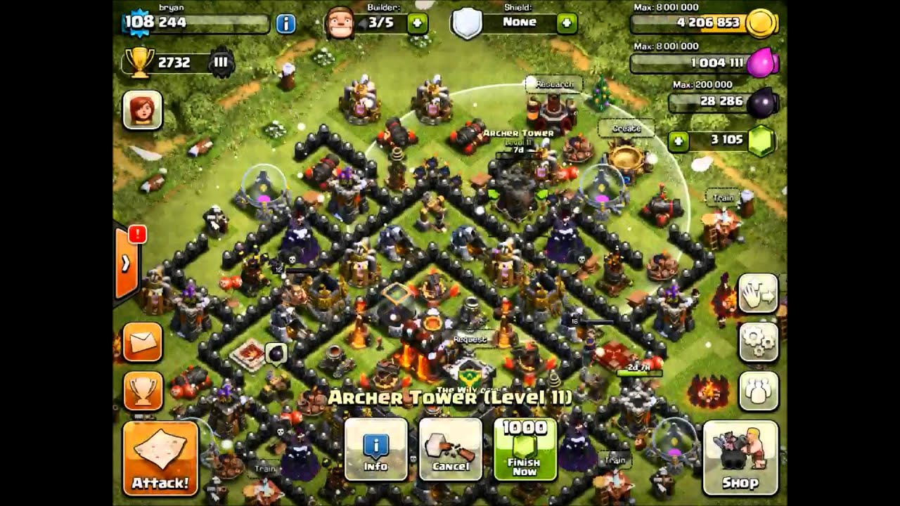 clash of clans christmas update level 3 inferno towers
