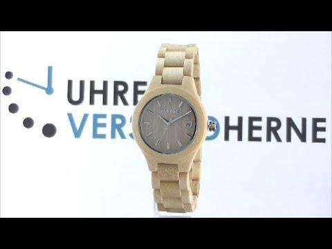 Armbanduhr Damenuhr Bamboo Beige Raptor Bambus Uhr Youtube