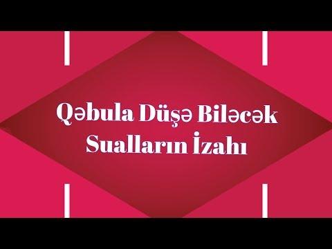 Qəbula Düşə Biləcək Sual Tiplərinin İzahı