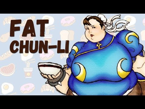 Chun-Li (Street Fighter) as Fat Parody