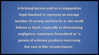 Reasonable person Meaning