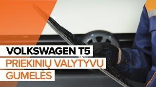 Montavimo gale ir priekyje Valytuvo gumelė VW TRANSPORTER V Platform/Chassis (7JD, 7JE, 7JL, 7JY, 7JZ, 7FD): nemokamas video