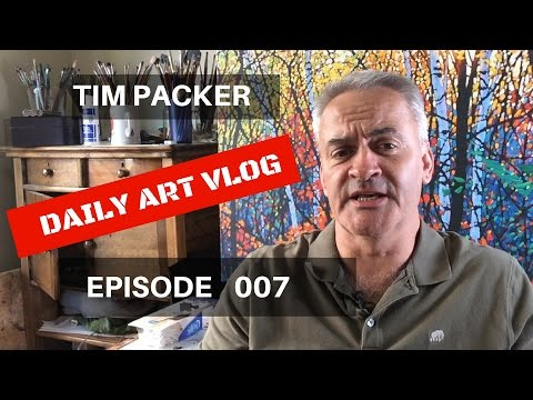 Maybe I'll Be a Police Officer! - Tim Packer Daily Art Vlog - Episode 007