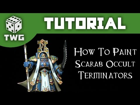 Games Workshop Tutorial: How To Paint Warhammer 40k Scarab Occult Terminators