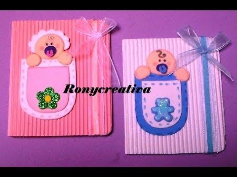 f4ce8f5ff56af Cómo hacer una linda invitación para BABY SHOWER o BAUTIZO   Ronycreativa