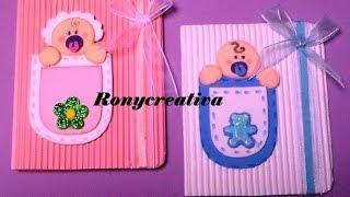 Cómo hacer una linda invitación para BABY SHOWER o BAUTIZO / Ronycreativa